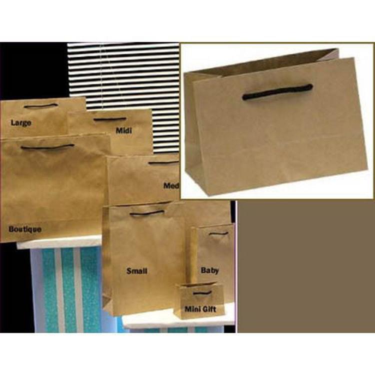 Picture of Deluxe Brown Kraft - Black Rope Handles - Mini Gift