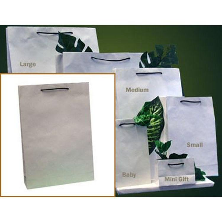Picture of Deluxe White Kraft - Black Rope Handles - Medium