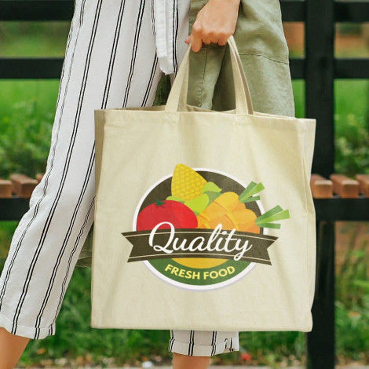 Picture of Galleria Cotton Shopping Tote
