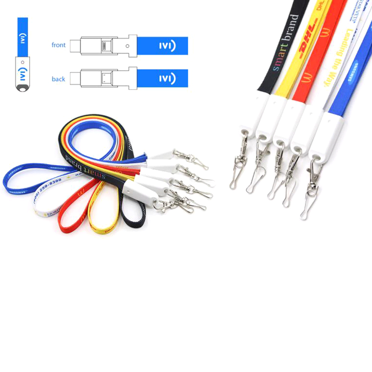Picture of 3-in-1 Polyester Charging Cable Lanyard