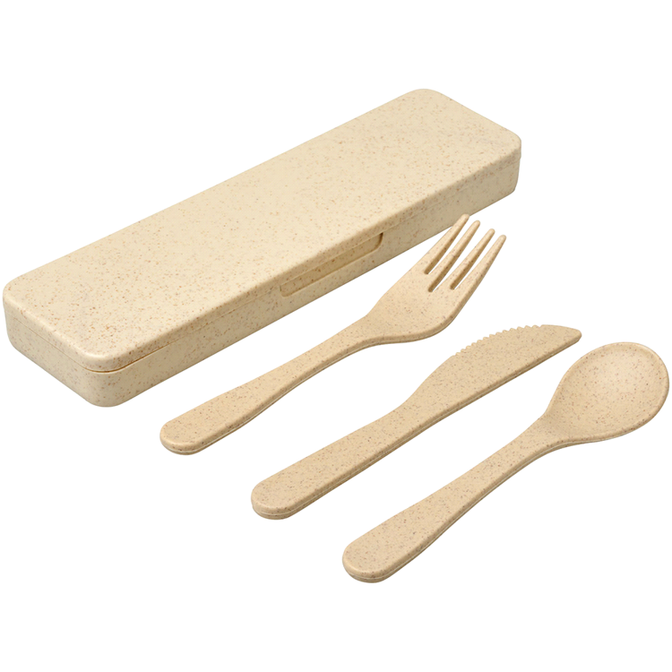 Picture of Bamboo Fiber Cutlery Set - BG